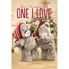one i love 3d christmas card me to you tatty teddy bear