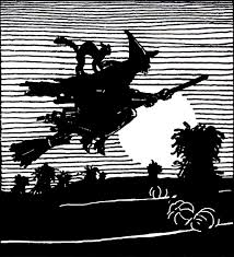 vintage witch illustration vintage flying witch image the graphics fairy