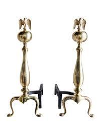 bennett co vintage brass eagle andirons 1950 u0027s u2013 high street market