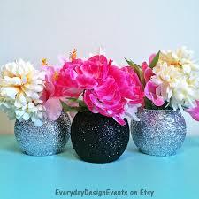 bulk silver vases black and silver vase set bubble vase baby shower vases