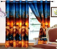 Eiffel Tower Window Curtains by Pair Of Ready Made 3d Curtains Blue Eiffel Tower U2013 Amazingcurtains