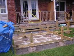 Building A Wood Bar Top Bar Furniture Floating Patio Floating Deck Over Concrete Patio