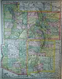 Map Of Utah by Map Of Utah Colorado Arizona Nm 1887