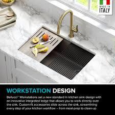 bowl kitchen sink for 30 inch cabinet kraus workstation 30 inch undermount granite composite single bowl kitchen sink in metallic brown with accessories