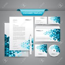 complete set of business stationery template such as letterhead