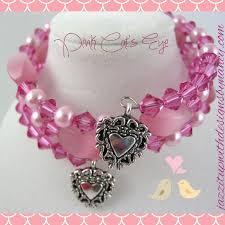 pink pearls bracelet images Handmade bracelet stack wrap pink cats eye swarovski crystal pearl jpg