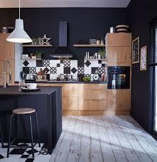 deco cuisine noir et blanc carrelage noir et blanc cuisine mineral bio