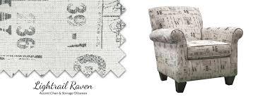 ac840a lightrail raven accent chair u0026 storage ottoman u2013 awfco