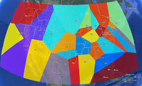 Nba Divisions Map Proximity Of Nba Teams Squared Statistics Understanding