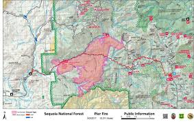 Map Of California Fires Mandatory Evacuations Issued For Pier Fire Near Porterville The
