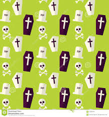 seamless halloween background vector flat seamless death halloween pattern stock vector image