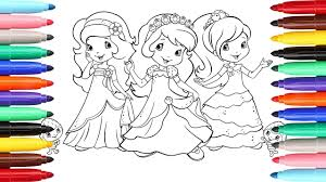 coloring pages strawberry shortcake berry best friends l how to