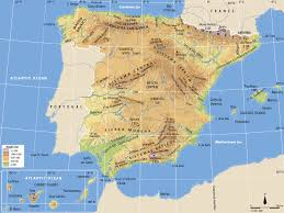 physical map of spain geographic coordinates geography 1 eso digital physical geography