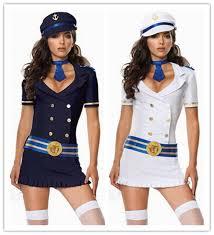 Nautical Theme Dress - sailor navy nautical lady rockabilly uniform fancy dress hen
