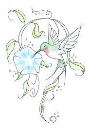 hummingbird tattoo sketch by meryllknight tattoomagz