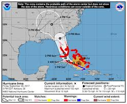 South Florida Map by Hurricane Irma Shifts West But South Florida Still At U0027extreme U0027 Risk