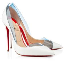 christian louboutin miss rigidaine 120mm pvc patent leather