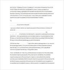 13 tenancy notice templates free word excel pdf format