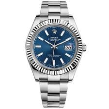rolex white gold oyster bracelet images Rolex oyster perpetual datejust 41 watch blue dial stainless jpg
