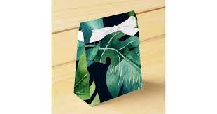 favor favor green tropical leaves black wedding favor favor box