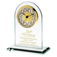50th anniversary plates anniversary personalized glass clock 50 th anniversary gift