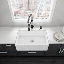 Black Apron Front Kitchen Sink by Farmhouse Sinks You U0027ll Love Wayfair
