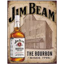 bourbon sign jim beam bourbon whiskey stillhouse tin sign bar signs