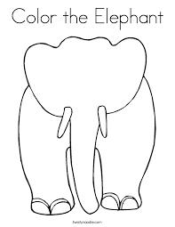 color elephant coloring twisty noodle