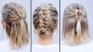 braided heatless back to short hairstyles milabu youtube