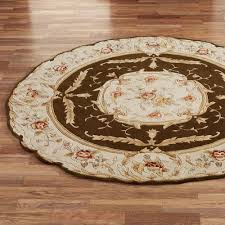 Circular Bathroom Rugs Rose Aubusson Sculpted Round Area Rugs