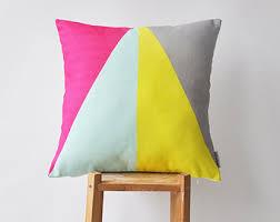 Decorative Pillows Modern Mint Decorative Pillow Geometric Kids Pillow Modern Kids