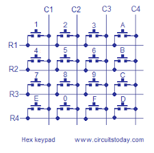 interfacing hex keypad to 8051 circuit diagram and assembly