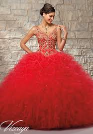 gold quince dresses ruffled tulle skirt with contrasting embroidered beaded bodice