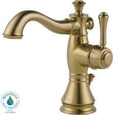 Delta Bronze Bathroom Faucet by Shop Delta Cassidy Champagne Bronze 1 Handle Single Hole