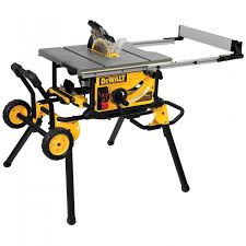 dewalt jobsite table saw accessories dewalt dwe7491rs 10 jobsite table saw with rolling stand rockler