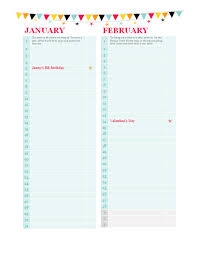 birthday and anniversary calendar any year calendars templates