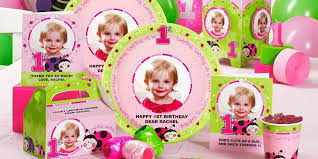 personalized party supplies ladybug oh so sweet 1st birthday personalized party supplies