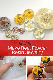 How To Make Inlay Jewelry - how to make real flower resin jewelry the beading gem u0027s journal