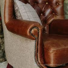 Tartan Chesterfield Sofa Julius Leather Wool Wing Armchair From Curiosity Interiors With