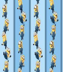 Minion Desk Accessories by Despicable Me Minion Blue Stripe Cotton Joann