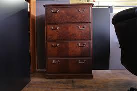 Vintage Oak Filing Cabinet 4 Drawer Wood File Cabinet Best Home Furniture Design