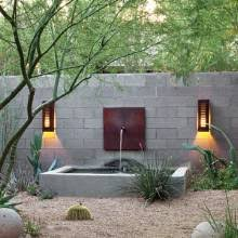 Backyard Feature Wall Ideas Urban Garden Redo Phoenix Home U0026 Garden Fountains Water