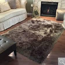 brown mocha shag costco segma area rug good condition big 7