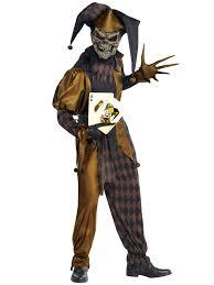 Clown Halloween Costume Mens Evil Jester Joker Costume Killer Clown Fancy Dress Costume