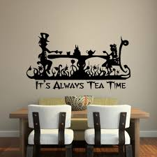 Eiffel Tower Wall Decals It U0027s Always Tea Time Wall Decal Quote Alice In Wonderland