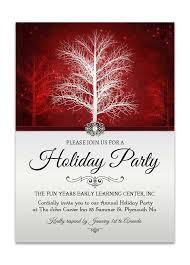 elegant pearl winter wonderland christmas party invite