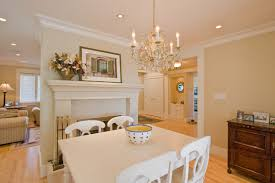 Beige Dining Room Color With Dining Table Traditional Fireplace - Traditional chandeliers dining room