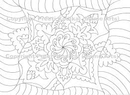 pen illustration printable coloring page zentangle inspired