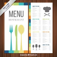 menu template colorful menu template vector free