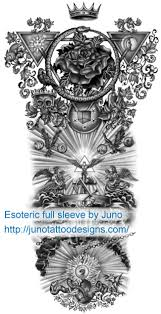 esoteric sleeve tattoo custom tattoos made to order by juno